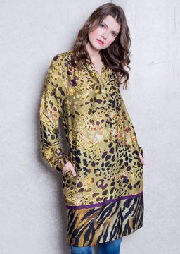 Kjole med leopard print