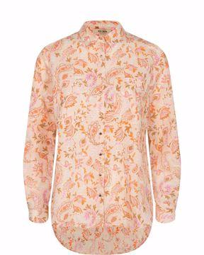 Kaia chintz linen shirt