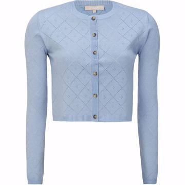 SRLisa cropped cardigan zen blue