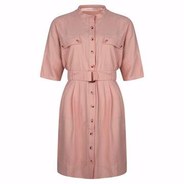 Dress short dobby coral Esqualo