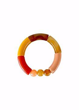 Fenja tube bracelet coral