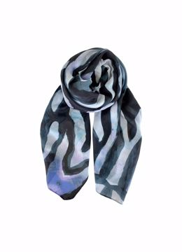 Perry ocean scarf blue Black Colour