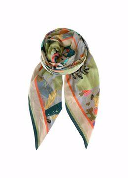 Botanique scarf pastel Black Colour