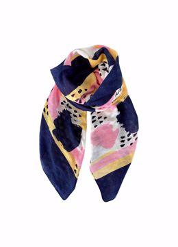 Rosita painting scarf navy Black Colour