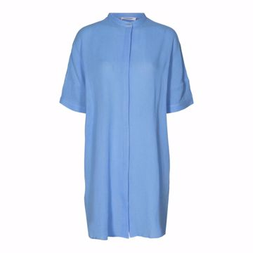 Crepe tunic shirt pale blue Co'couture