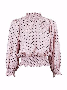 Dua crepe flower blouse lavender Neo Noir