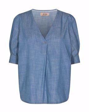 Phoenix sky blouse chambray blue Mos Mosh