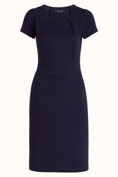 Mona dress milano crepe sapphire blue King Louie