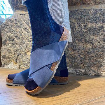 Annet Iris/grey sandal Tim&Simonsen