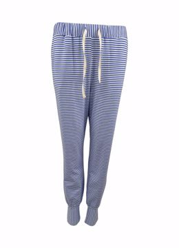 Polly striped jersey pant blue Black Colour