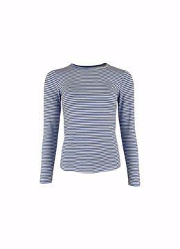 Polly striped t-shirt blue Black Colour