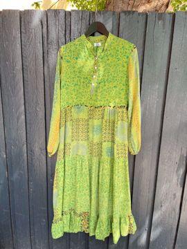 Silke maxi kjole Cofur