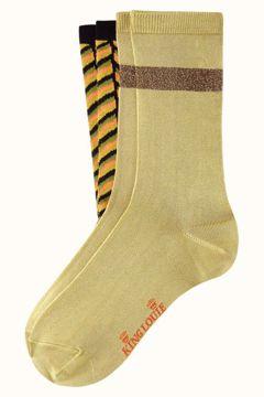 Socks 2-pack mistletoe black King Louie
