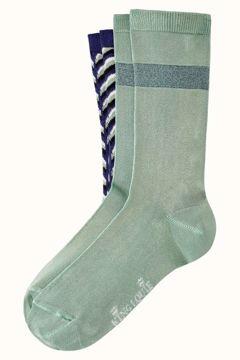 Socks 2-pack mistletoe dazzling blue King Louie