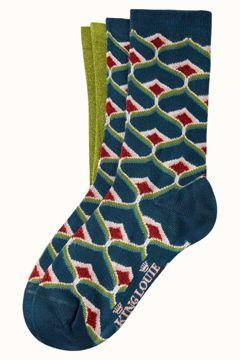 Socks 2-pack spades King Louie