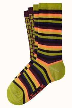 Socks 2-pack fudge King Louie