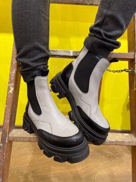 Ulrica Turia Grey/Black Shoe Biz