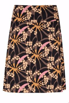 Skirt A-line Hippy Marron Zilch