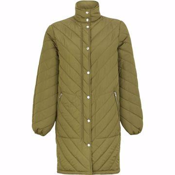 SRRevna quilt coat dark olive Soft Rebels