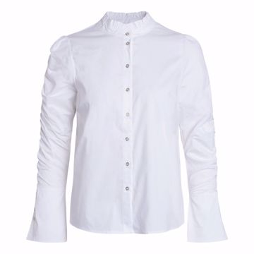 Sandy elastic sleeve shirt White Co'couture