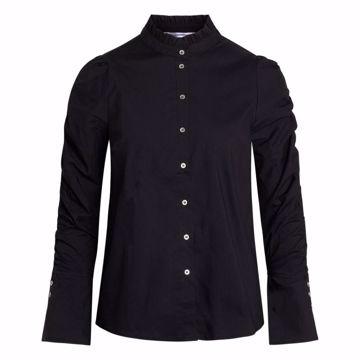 Sandy Elastic sleeve shirt Black Co'couture