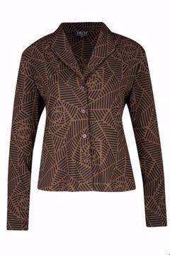 Jacket rosette marron Zilch
