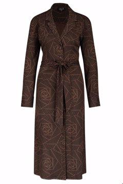 Dress buttons rosette marron Zilch