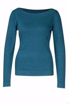 Sweater boatneck Petrol Zilch