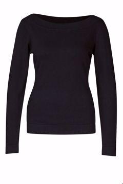 Sweater boatneck Black Zilch