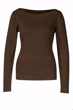 Sweater boatneck Marron Zilch