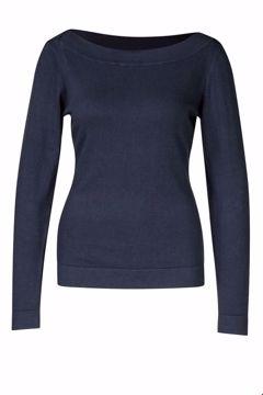 Sweater Boatneck Navy Zilch