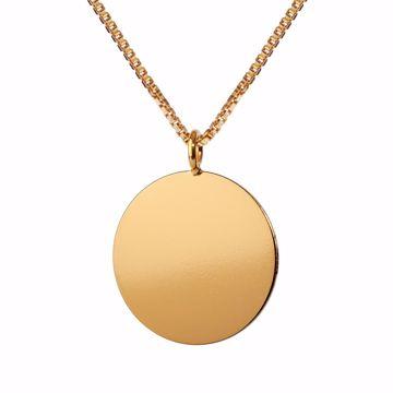 CUT circle halskæde 60cm Gold Scherning