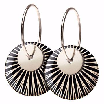 SPLASH øreringe Black/silver Scherning