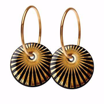 SPLASH øreringe Black/Gold Scherning