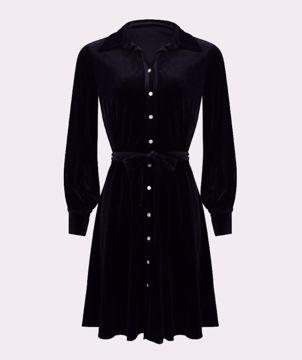 Dress Velvet Black Esqualo