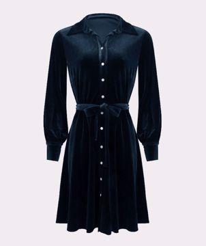 Dress Velvet Blue Esqualo